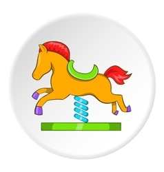 Horse rocking icon cartoon style vector