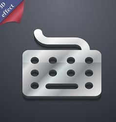 keyboard icon symbol 3D style Trendy modern design vector image