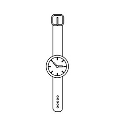 Line nice watch to know the time of day vector