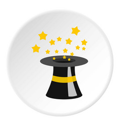Magician hat icon circle vector