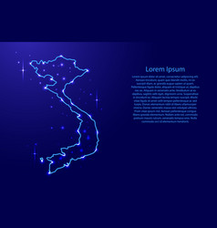 map vietnam from the contours network blue vector image vector image