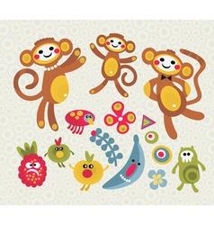 monkey mania vector image vector image