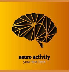 Neuro activity brain vector