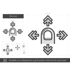Pan line icon vector