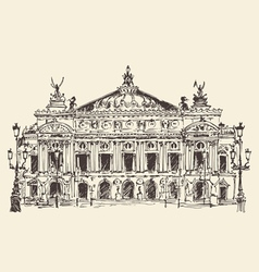 Paris france palais garnier paris opera house vector