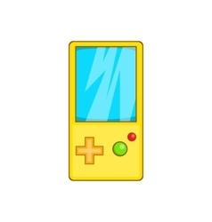 Pocket tetris icon cartoon style vector