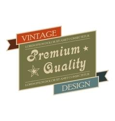 Premium quality vintage banner vector