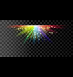rainbow glowing light vector image