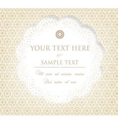Rustic Invitation vector image vector image