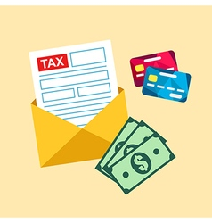 Tax mail bill vector image
