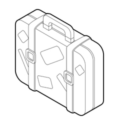 Travel suitcase icon isometric 3d style vector image