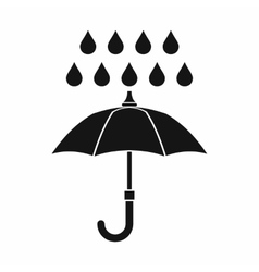 Umbrella and rain icon simple style vector image vector image