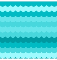Waves background seamless blue flat wave vector image