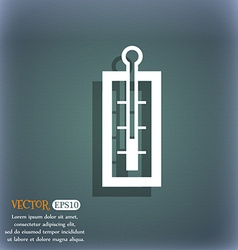 Thermometer icon On the blue-green abstract vector image
