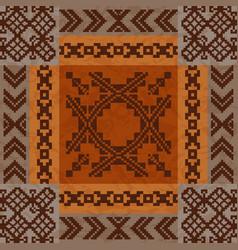 ethnic ornament carpet design vector image