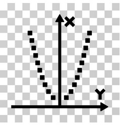 Parabole plot icon vector