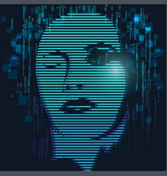 Digital face vector