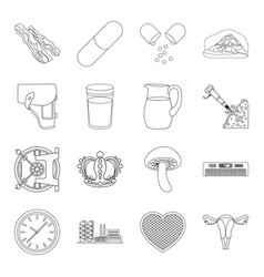 appendages womb finance and other web icon in vector image