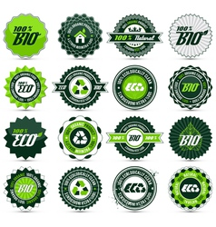 Eco label set vector