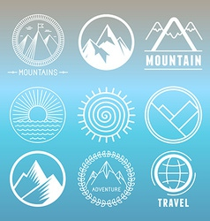 Mountain logos and emblems vector