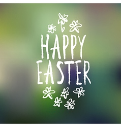 Easter greeting with bokeh background vector