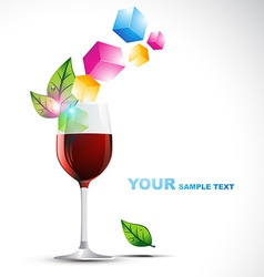 Beautiful wine glass vector
