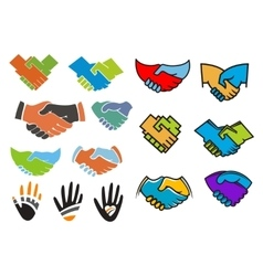 Colorful partnership and friendship symbols vector image