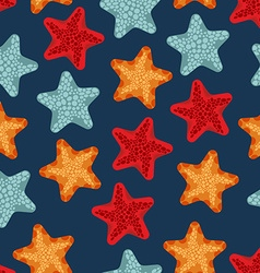 Starfish seamless pattern background of deep-sea vector