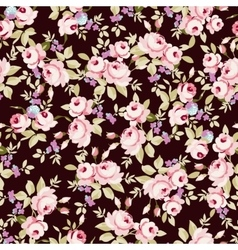 Floral pattern with little pink roses vector