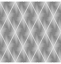 Design seamless monochrome diamond background vector