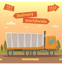 Cargo service worldwide delivery truck logistic vector