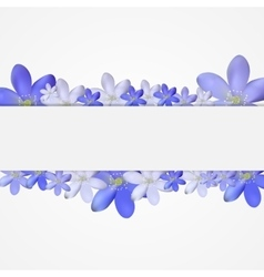 Abstract simple flower pattern background vector