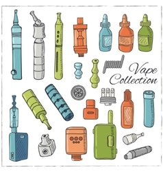 Vape icons vector