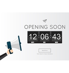 Opening soon for website template vector