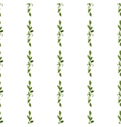 foliar watercolor green seamless pattern vector image
