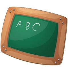 A blackboard with letters vector image vector image