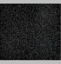 Black matrix background with digits vector