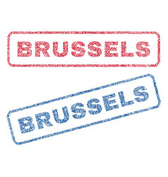 Brussels textile stamps vector
