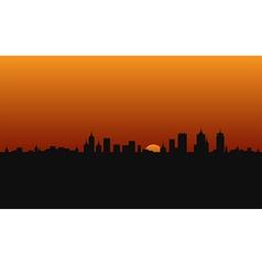city building sunshine vector image