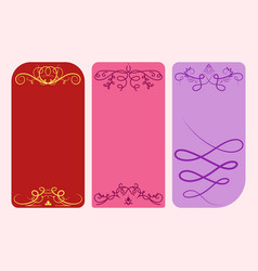 collection of dividers cards calligraphic vector image