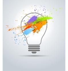 creative bulb vector image