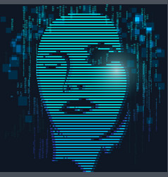 Digital face vector