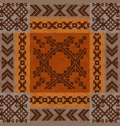 Ethnic ornament carpet design vector