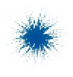 halftone blob vector image