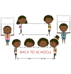 Happy African-American cute children vector image vector image