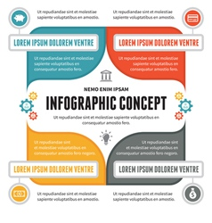 Infographic Concept - Scheme for Presentation vector image vector image