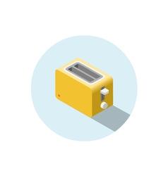 isometric yellow toaster kitchen equipment icon vector image