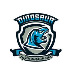 logo emblem of dinosaur jurassic period vector image vector image