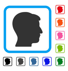 man head framed icon vector image vector image