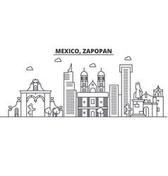 mexico zapopan architecture line skyline vector image